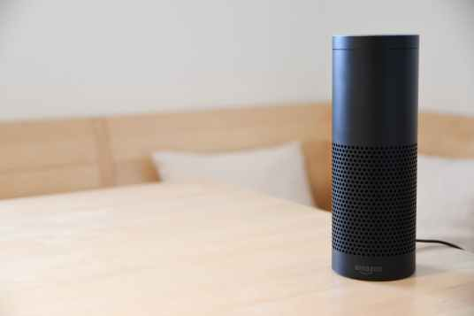 black amazon echo on table